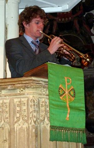 Josh Price playing Trumpet Voluntary in 2009