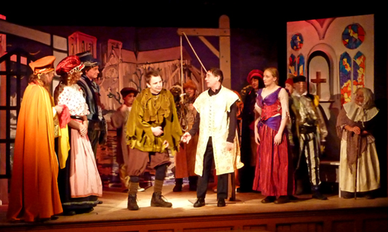 Pilton Panto and handing over the cheques