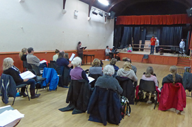 Rehearsal in Pilton Hall