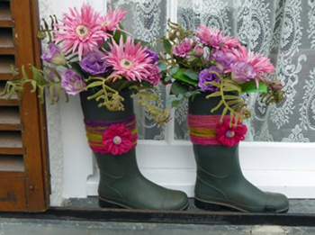 Wellies on Windowsill